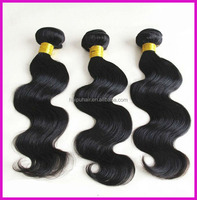 Fast shiping juancheng haipu factory supply body wave brazilian human hair sew in wave extension