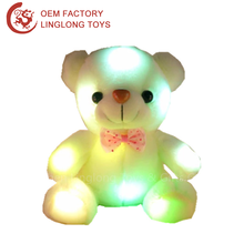 20'' Stuffed Animal Led Plush Shining Teddy Bear Led Plush Bear With Bowknot Luminous Teddy Bear Plush Toys