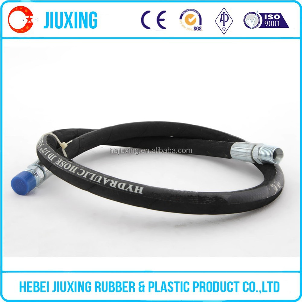 Alibaba Gold Supplier Quality SAE 100 R1AT steel wire braided hydraulic rubber hose