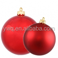 30cm red Christmas ball big decorative ball giant christmas ball