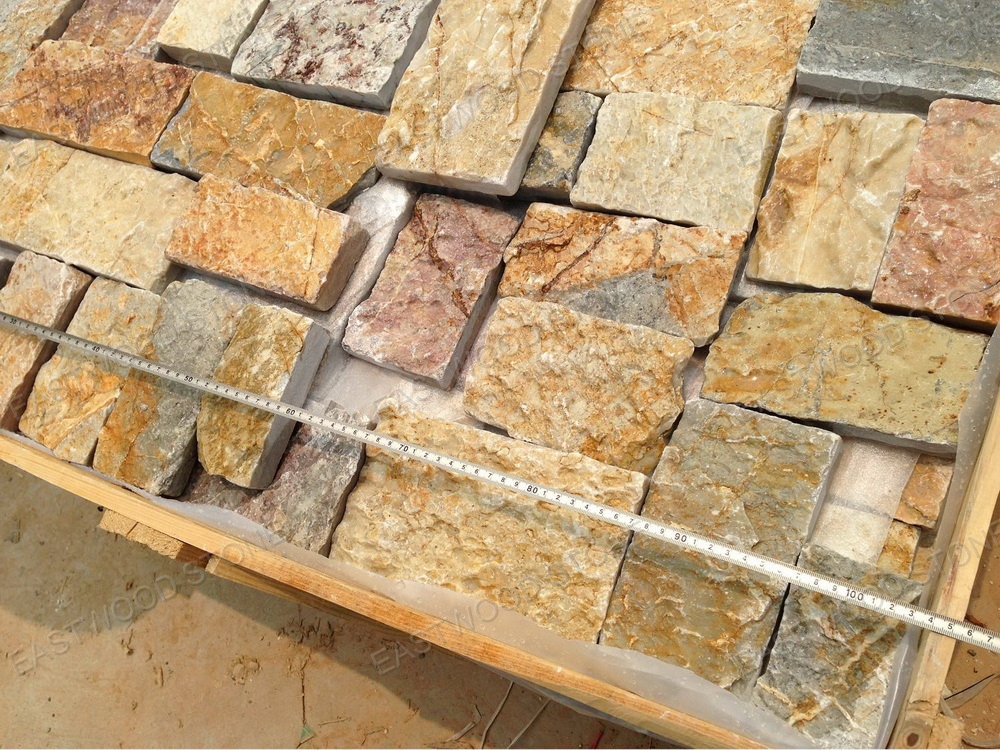 Golden Exterior Wall Stone,Blue stone paving tiles