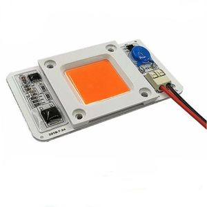 AC 110V 220V Driverless 380nm-840nm Cob led chip full spectrum 50W For COB Grow Light