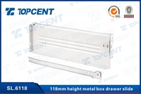 Side mounted adjustable mepla roller metal box drawer slide