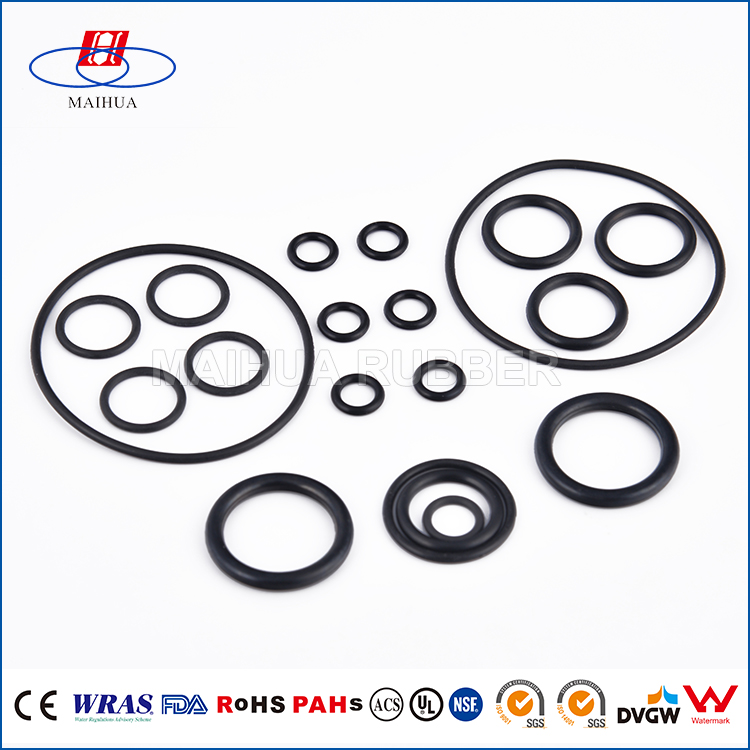 REACH approved NBR,EPDM,SILICONE elasticity rubber o rings for led