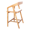 European stlye natural wood color wooden stool chairs made in China