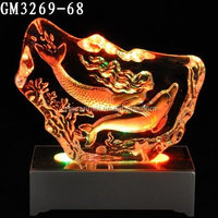 Wholesale crystal LED dolphin and mermaid ice sculpture