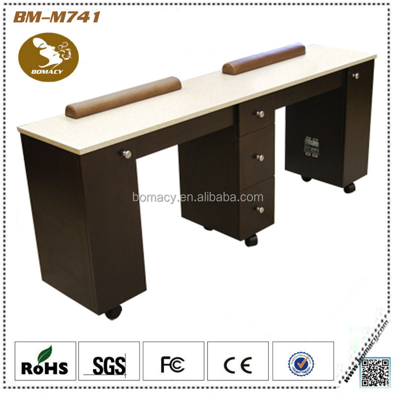 Double manicure nail table for sale view manicure table for Long manicure table