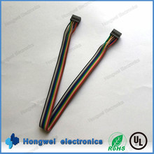 Customized Dupont 2*5 pin 2.0mm pitch connector at both ends with UL1007 28awg wire harness