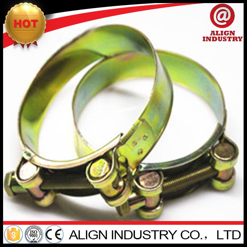 New design heavy duty bolt clamps heavy duty clip womm drive corrugated pipe hose clamps