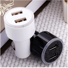 2 colors LED Dual USB 2A Car Charger adapter Cargador cigarette lighter encendedor battery quick charge A