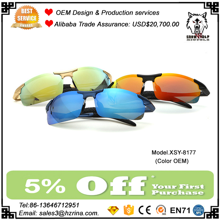 2017 Wholesale Polarized Sunglasses Aluminum Magnesium Men Colorful Lens Riding Glasses Outdoor Sports Bicycle Sunglasses