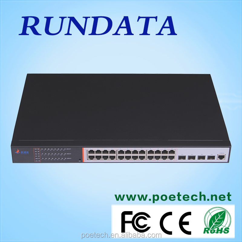 High capacity 24 port 10G network switch 4 SFP+ port
