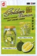 Golden Durian Soft Chewy Candy