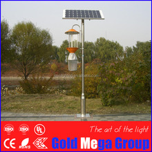 high efficiency Austria farm use auto switching solar power insects light trap/ insecticidal lamp