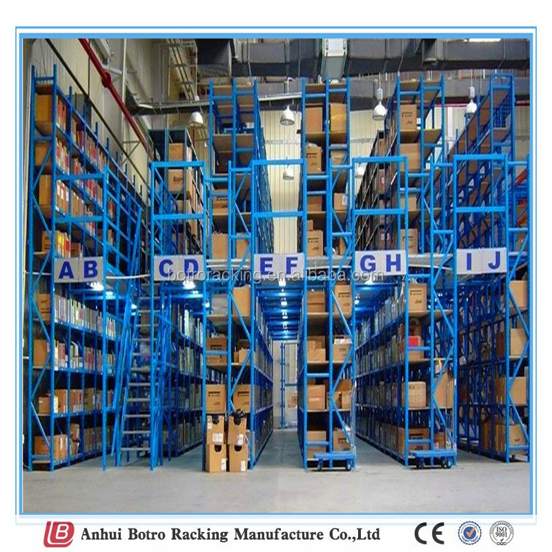 China steel adjustable mezzanine floor manufacturer and steel pallet supported mezzaine platform