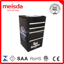 Customized Beer bottle back bar beverage cooler,toolbox fridge