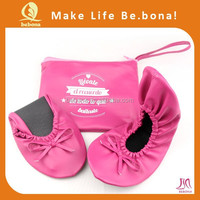 2015 Lattest foldable fushia pink Matching Shoes And Bags for party and wedding