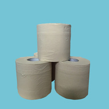 Wholesale 3player 14.5gsm unbleached natural brown bamboo bathroom toilet paper