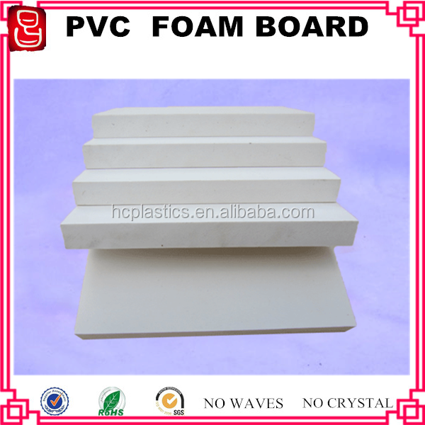 1mm to 40mm thickness 4x8 feet size white pvc rigid foam sheet