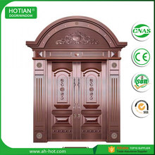 Europe Style Double Swing Exterior Copper Doors Villa Entry Front Door Design