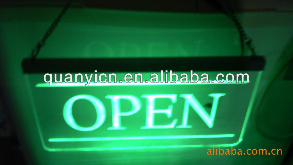 NEW! Acrylic waterproof led open sign