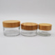 cosmetics glass 50g 30ml eye cream bottles cosmetic packaging bamboo