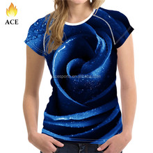 Hot selling custom high quality 3D printing t shirts clothing, wholesale t shirts for women