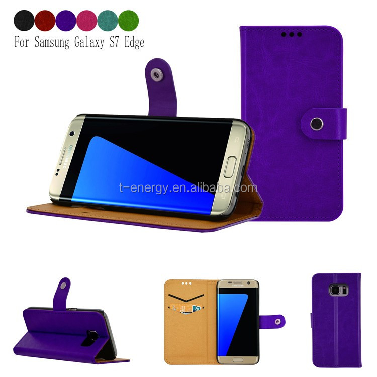 Leather Cover Pc Tablet Mobile Phone case for Samsung galaxy S7 Edge case