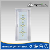 Frosted Glass Classical Style Glass Door with Aluminum Frame