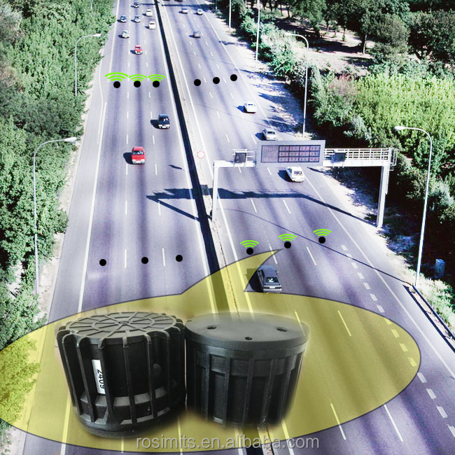 Small size wireless vehicle traffic sensor for traffic monitoring guide