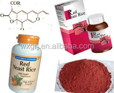 Manufacture 100% natural Supplement Red Yeast Rice P.E. Monacolin K Capsules and OEM service
