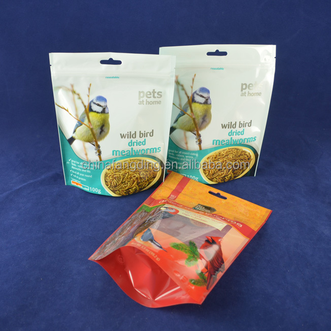 side gusset pet bag / stand up dog food bag / plastic pet food packaging