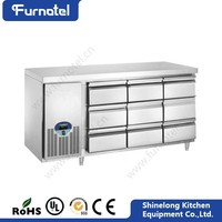 Commercial Supermarket Equipment 9 Drawers Chef Bases Undercounter Refrigerator