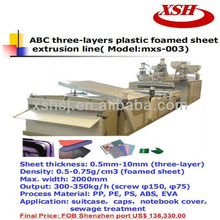 Good performance PP PE ABC Three layers Plastic foam sheet extruder