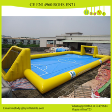 20*10*2.5M Giant inflatable soap football/water soccer field football pitch for sale
