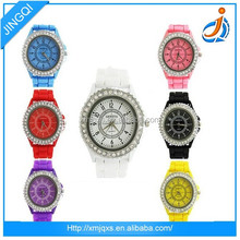 Unisex fashion unisex colorful strap wrist custom silicone watch