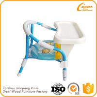 Children chair metal baby dining table and chair