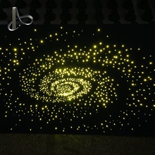 decorative color changeable led fiber optic light sky star ceiling light with storm design