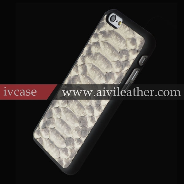 2015 custom snake skin cell phone holder for iphone 6 leather case,back shell cover for apple iphone 6 accessories
