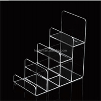 3 4 5 tier acrylic wallet step display/purse display racks/cosmetic stand