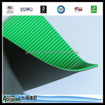 Great Wall 5kv-50k High Voltage Smooth & Ribbed Pattern Flexible Insulation Electrical Rubber Sheet With Reach ROHS Certificate