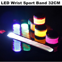 Factory Price Super Quality LED Wrist Arm Band Bracelet Flashing Light Up Dance Party Supply
