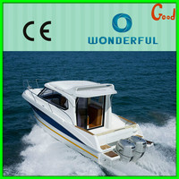 2015 new fashion new style fiberglass sailing yacht for sale