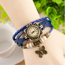 Wholesale Price Cheap Leather Watch Women Retro Watch