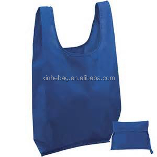 recycled vest foldable polyester bag