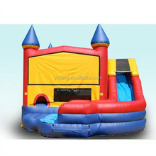 Wholesale inflatable combo moonwalk, jumping castle with curve slide B2157