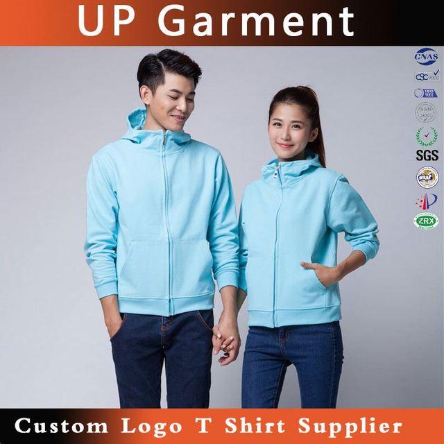 UP Garment white half zipper hoodie