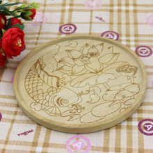 Natural soild Beech wooden dishes /Rouand shapewooden cake <strong>plate</strong>