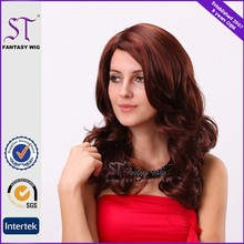 Ombre Red Synthetic Curly Hair Lace Front Wig for Sale