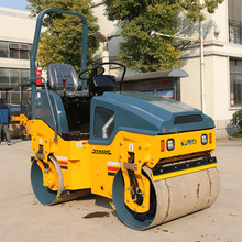Most durable hydraulic vibratory road roller with double drum